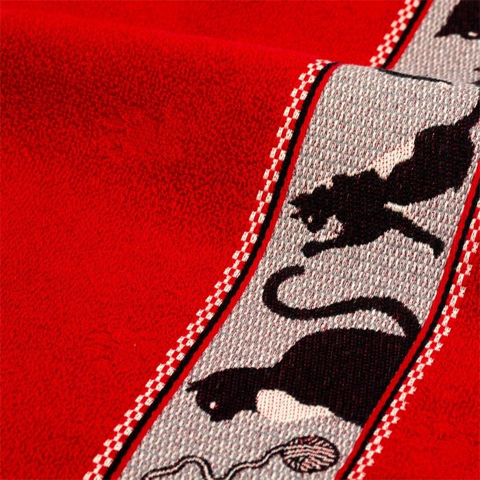 Black Cats Hand Towel Red