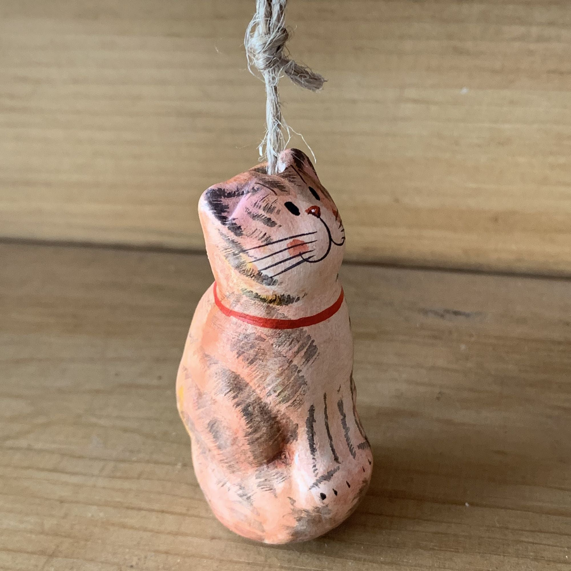 Ginger Cat Ceramic Light pull