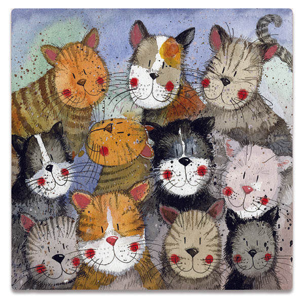 Cats Choir Square Card
