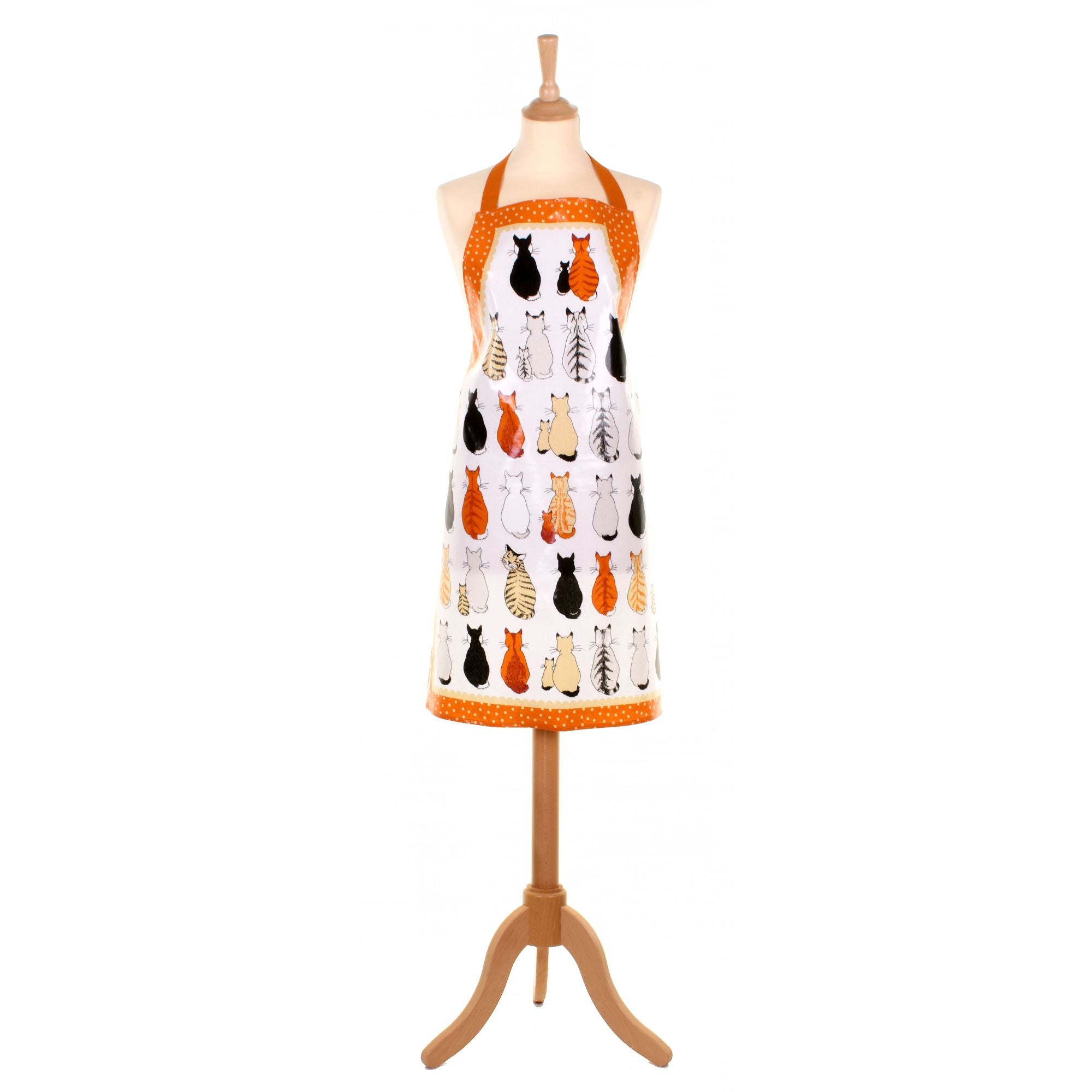 Cats in Waiting PVC apron by Ulster Weavers