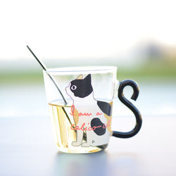 Set of 2 curly tailed cat glasses