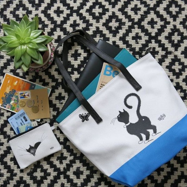 Cat & Butterfly Shoulder Bag