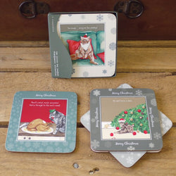 50% OFF Festive Coasters, pack of 4