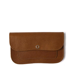 Cat Chase Leather Purse, Cognac
