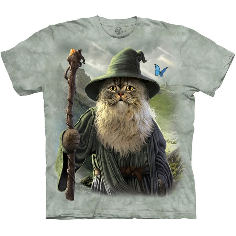 Catdalf T-shirt.  Cat version of Gandalf from Lord of the Rings