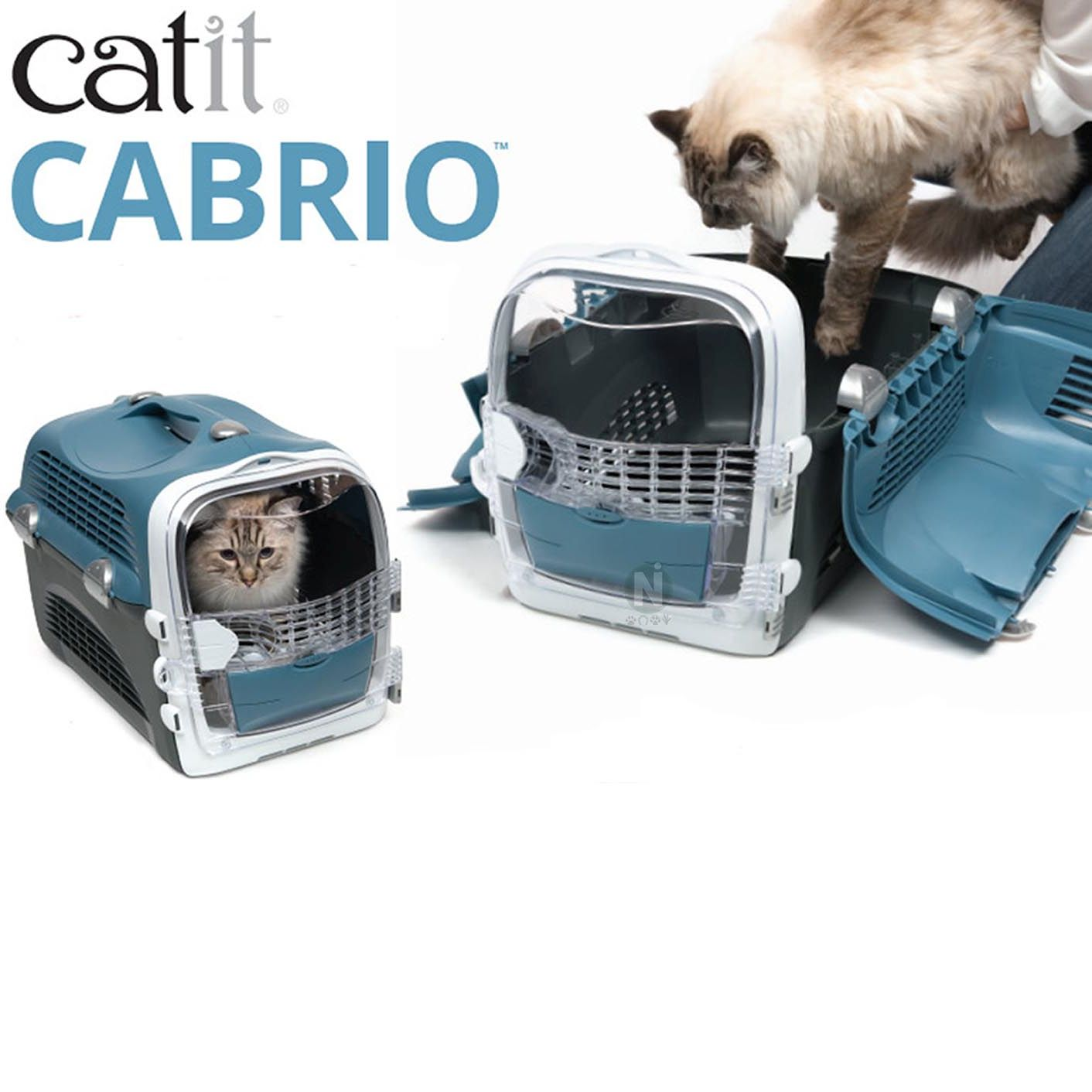 Catit Cabrio Carrier, Blue / Grey