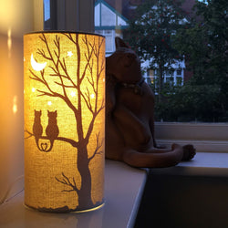 Moonlight Cats Table Lamp