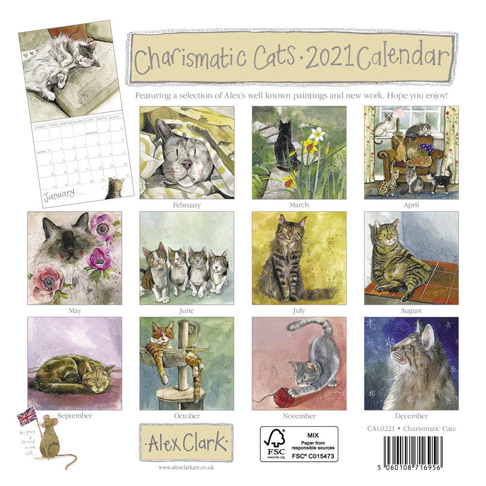 2021 Charismatic Cats Calendar by Alex Clark