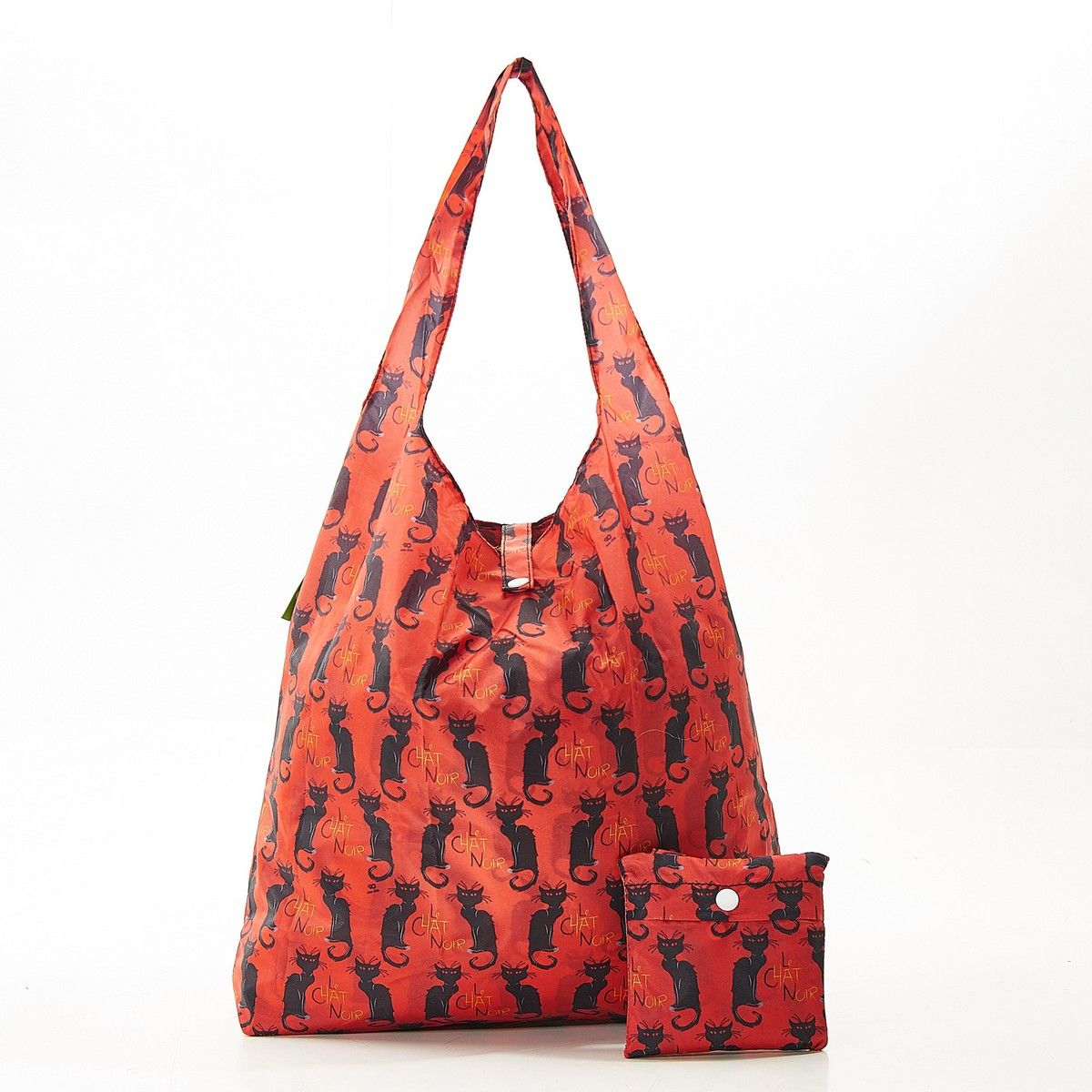 Chat Noir packable Shopper Berry Red