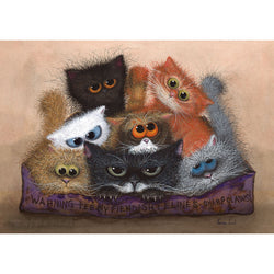 Chocolate Box Teeny Fiendish Felines A4 Print by Tamsin Lord