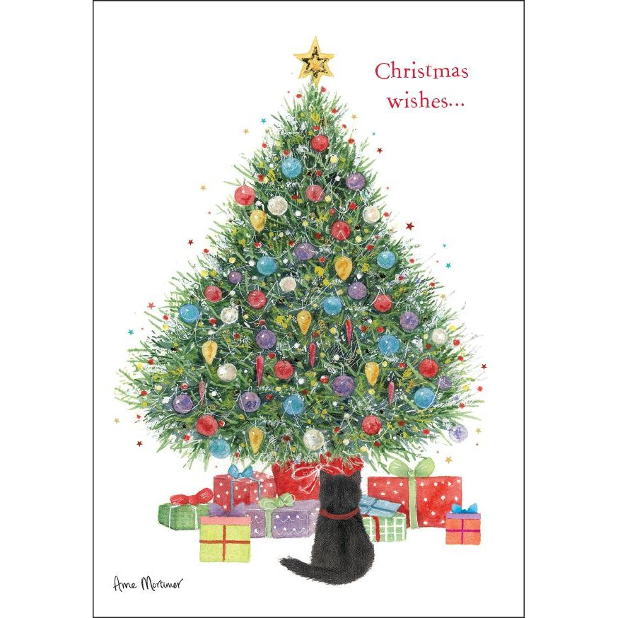 Christmas Tree Wishes Charity Card