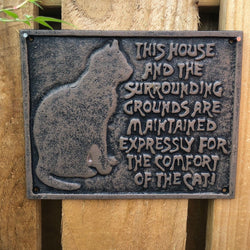 Metal Wall Plaque - The Comfort of the Cat