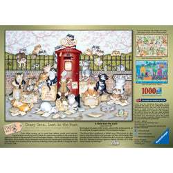 Crazy Cats Lost in the Post 1000 Piece Jigsaw