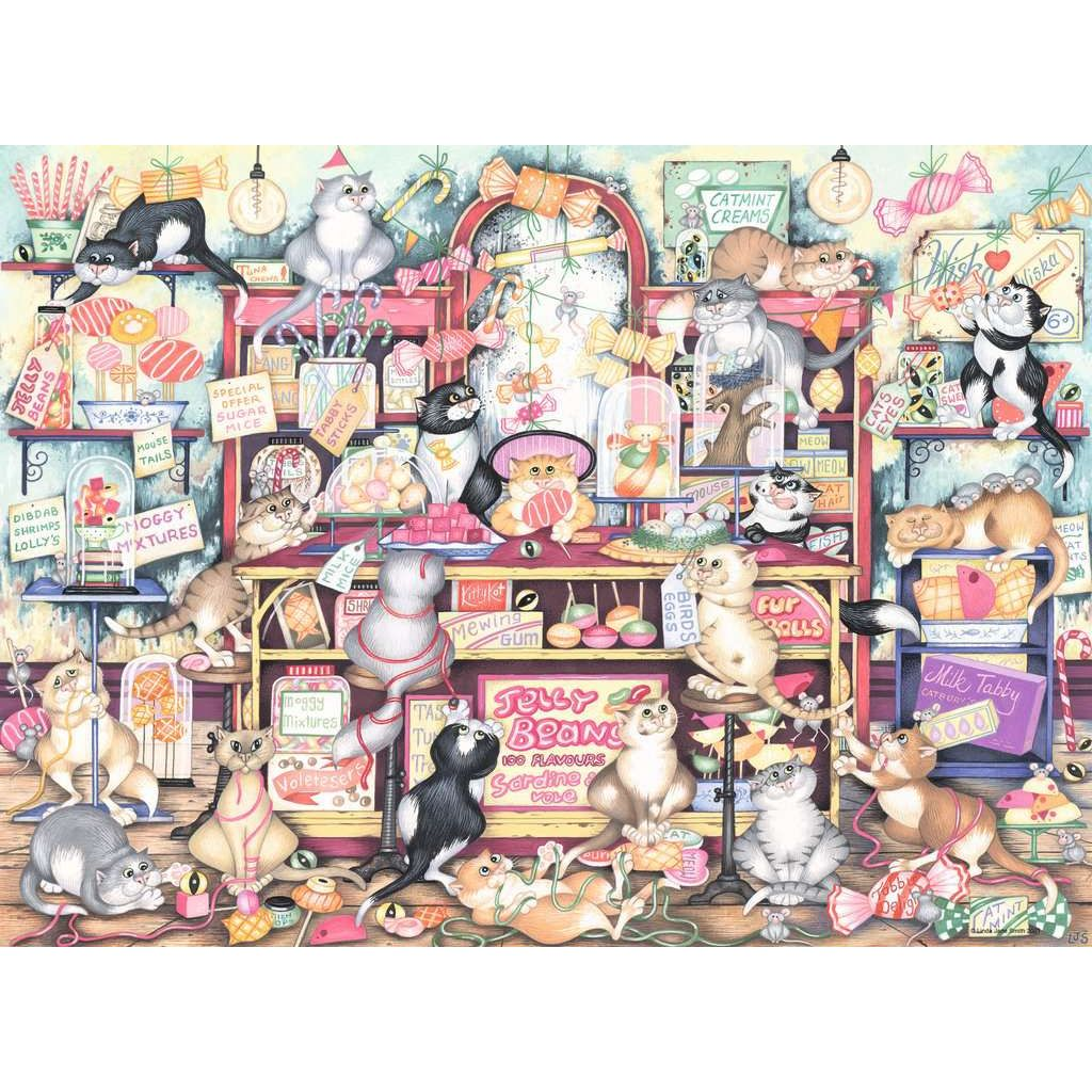 Crazy Cats Mr Catkins Confectionery 500 Piece Jigsaw