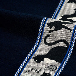 Navy Blue Hand Towel with cat decoration