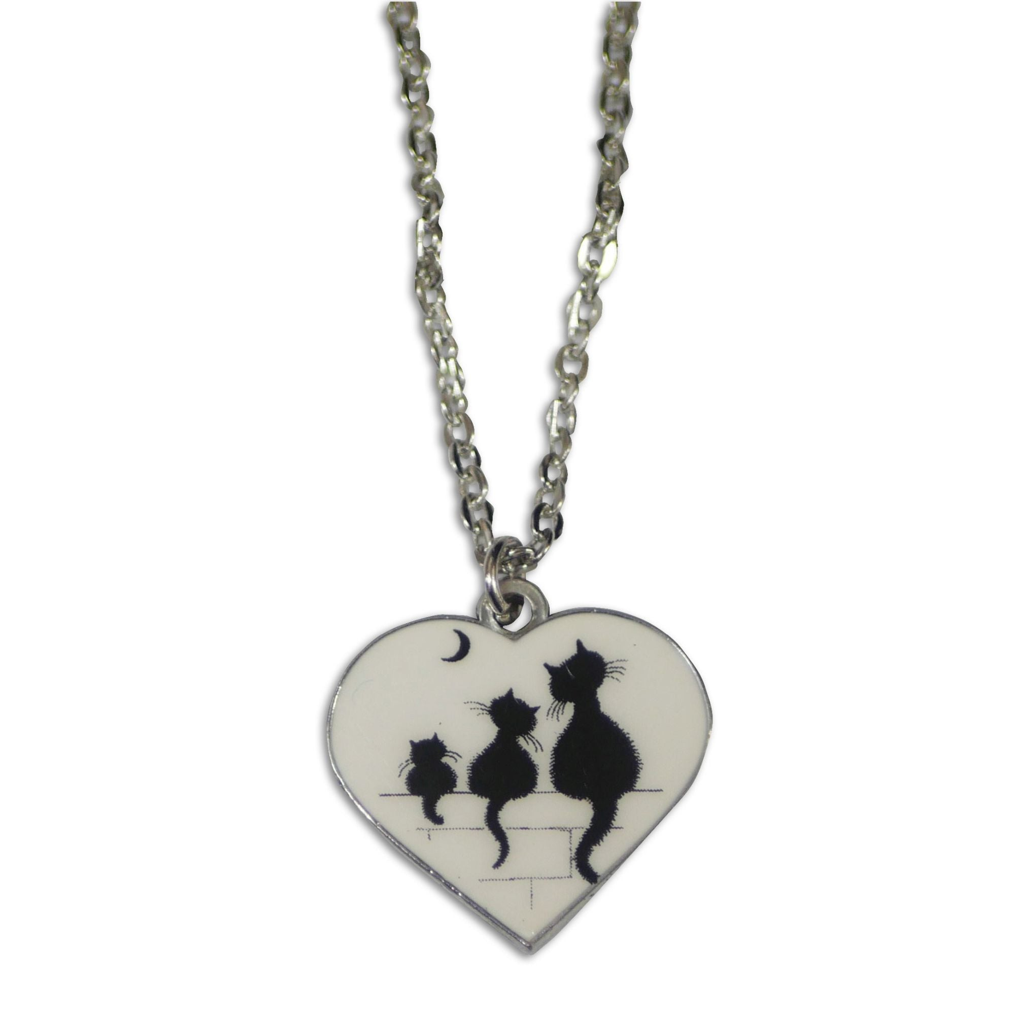 Dubout Cats Heart Pendant