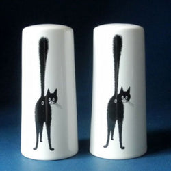 Third Eye Rude Cat Motif Ceramic Salt & Pepper