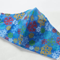 Reusable Face Cover, Blue Snowflakes