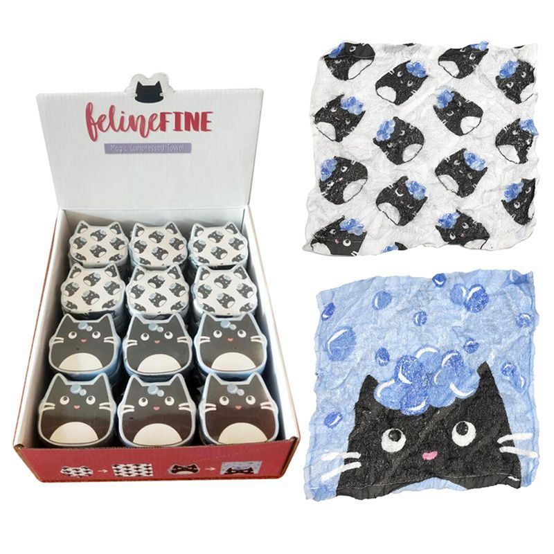 Feline compressed flannel