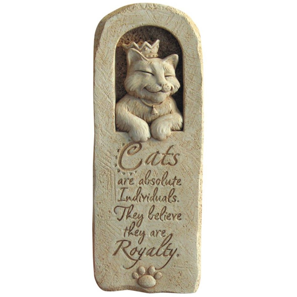 Feline Philosophy Stone Cat Plaque