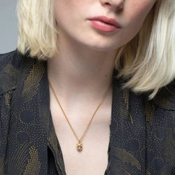 Gold Plated Cat Face Necklace