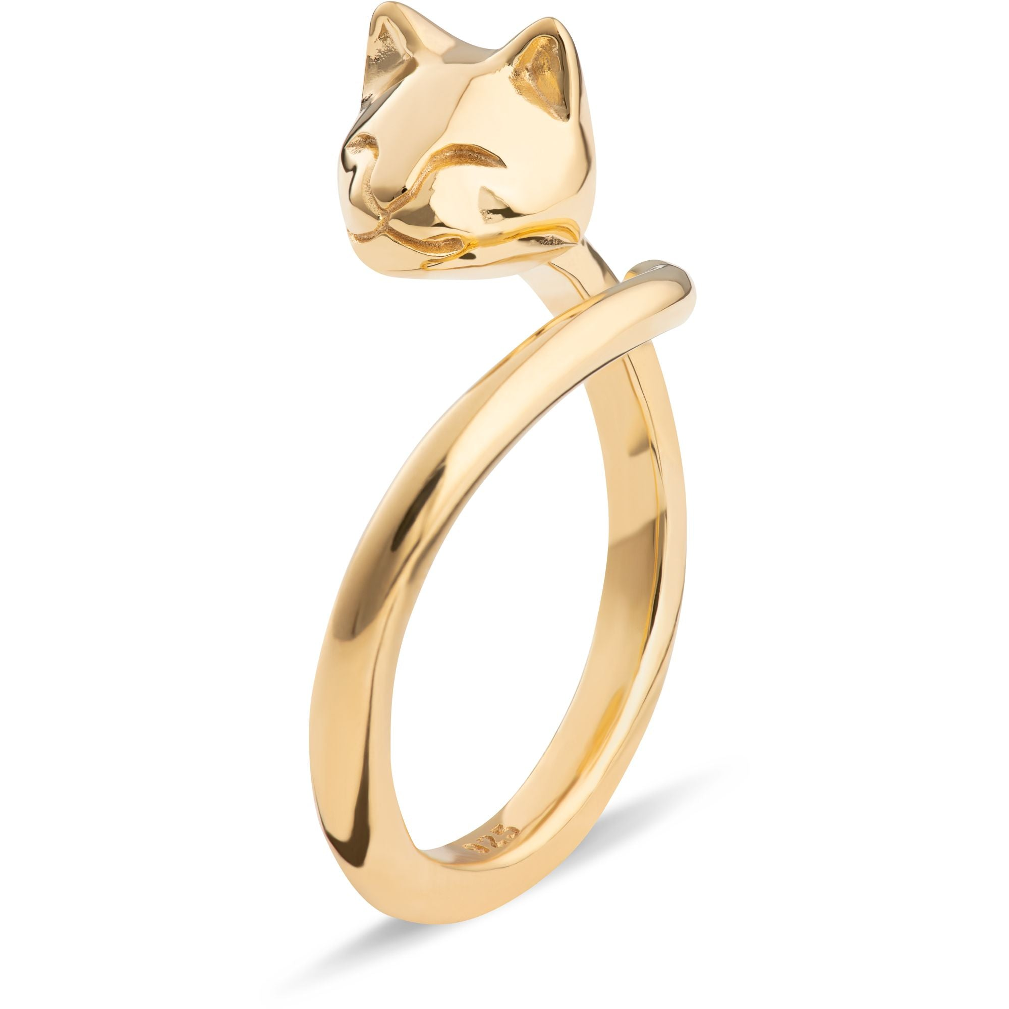 Adjustable Cat Head Gold RIng