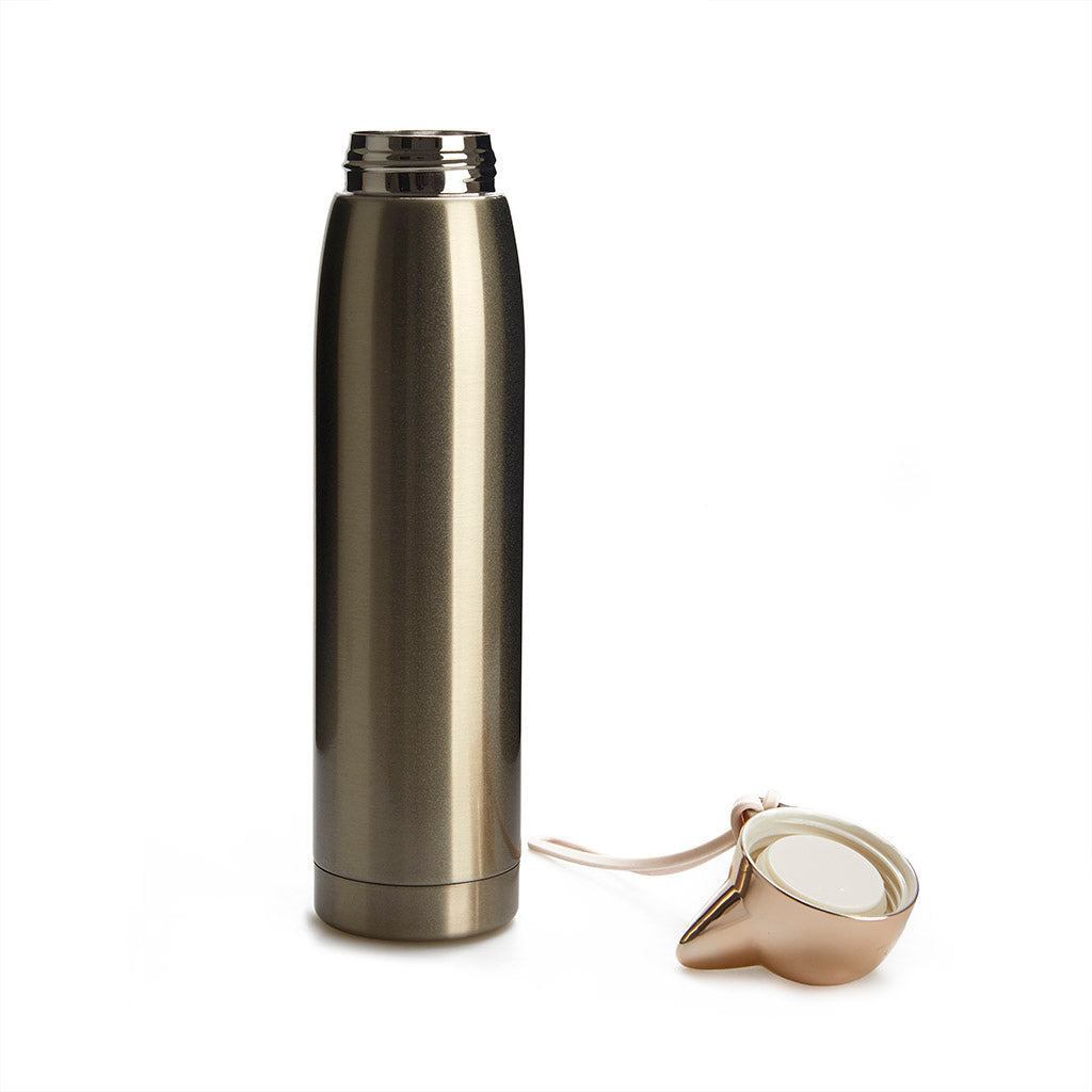 Cat Head Thermos flask, Gold