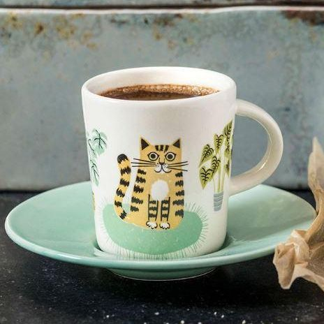 Catlife Espresso Cup and Saucer