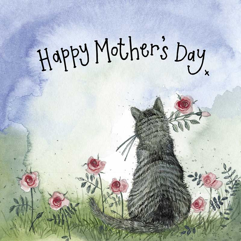 Sunshine Cat for Mum Card by Alex Clark