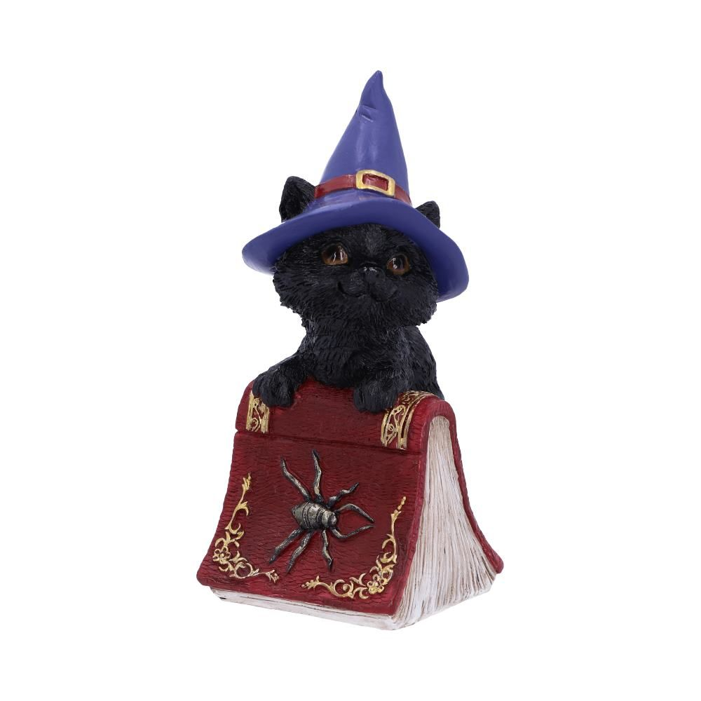 Hocus Cat Ornament wearing witches hat
