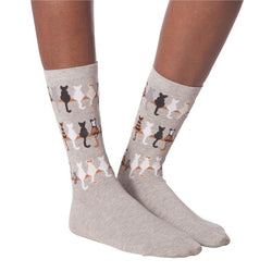 Cat Tails Socks, Grey UK 3-7