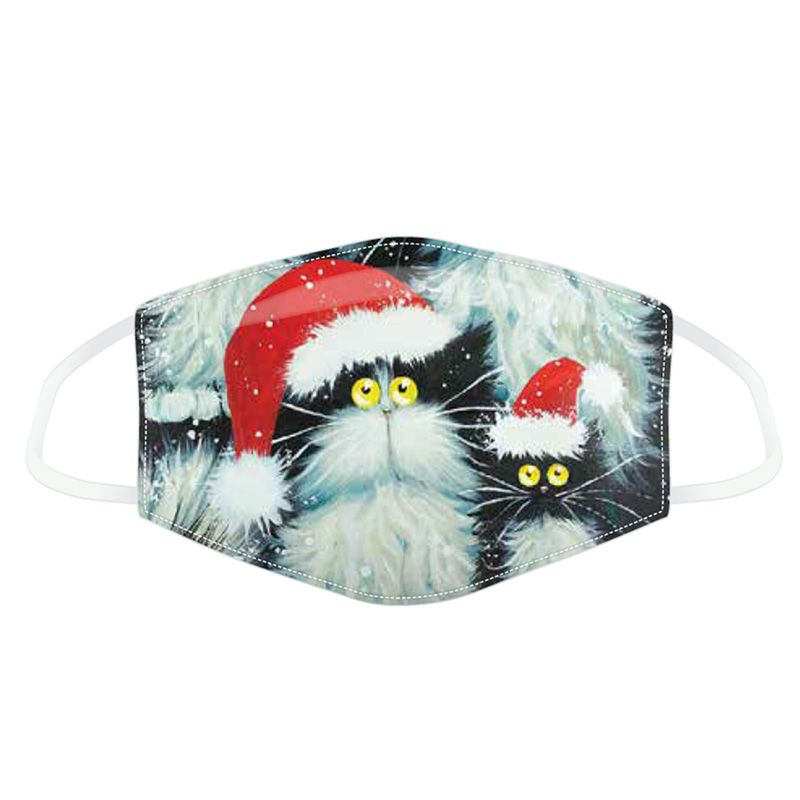 Christmas Cats Reusable Face Covering