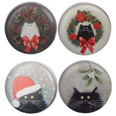 Kim Haskins Festive Cats Lip Balms, set of 4