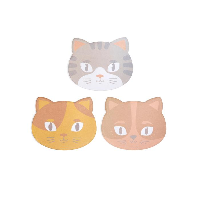 Cat Face Sticky Notes