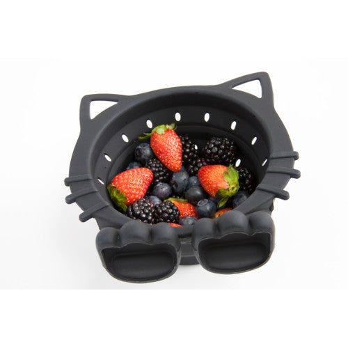 Black Cat Collapsible Colander