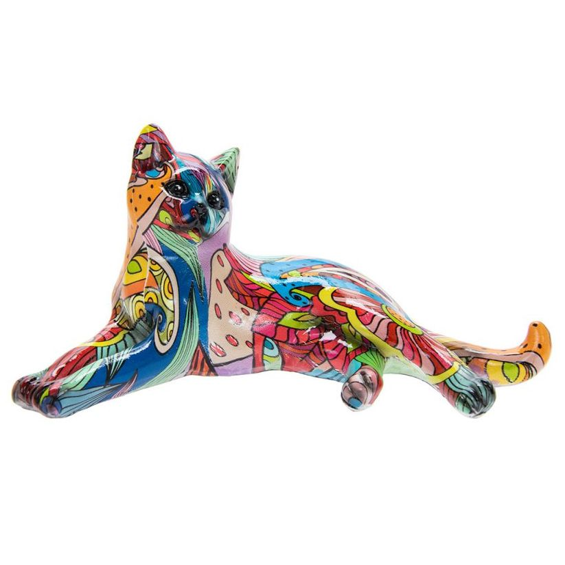 Groovy Art Lying Cat