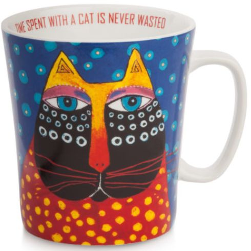 Time Spent with a Cat is never Wasted Mug