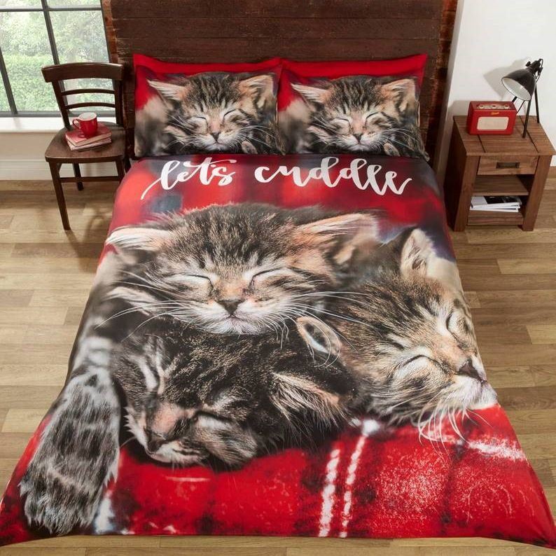 Cuddle Cats King Size Duvet Set