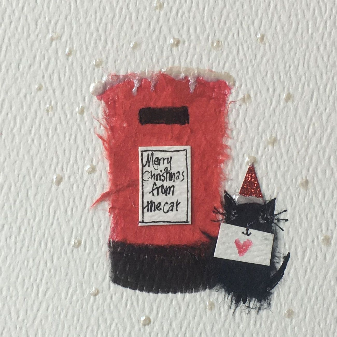 Handmade Merry Christmas from the Cat Christmas Card