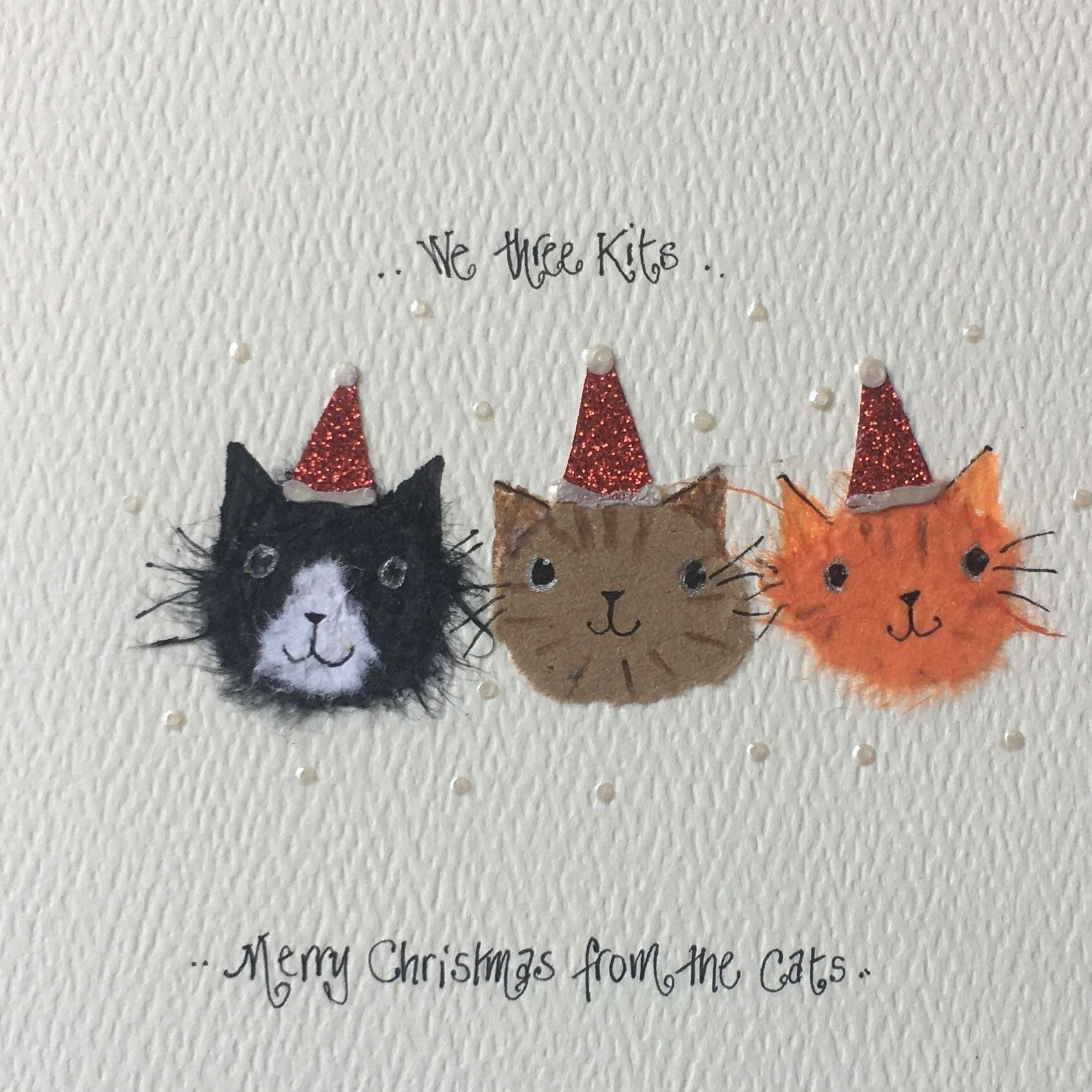 Handmade Merry Christmas from the Cats Christmas Card