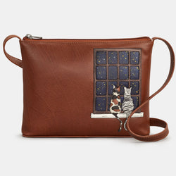 Midnight Cats Cross Body Bag
