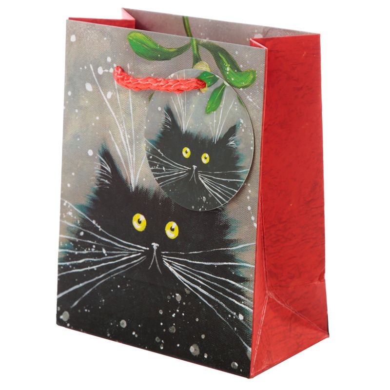 Mistletoe Cat Mini Gift Bags - Pack of 5