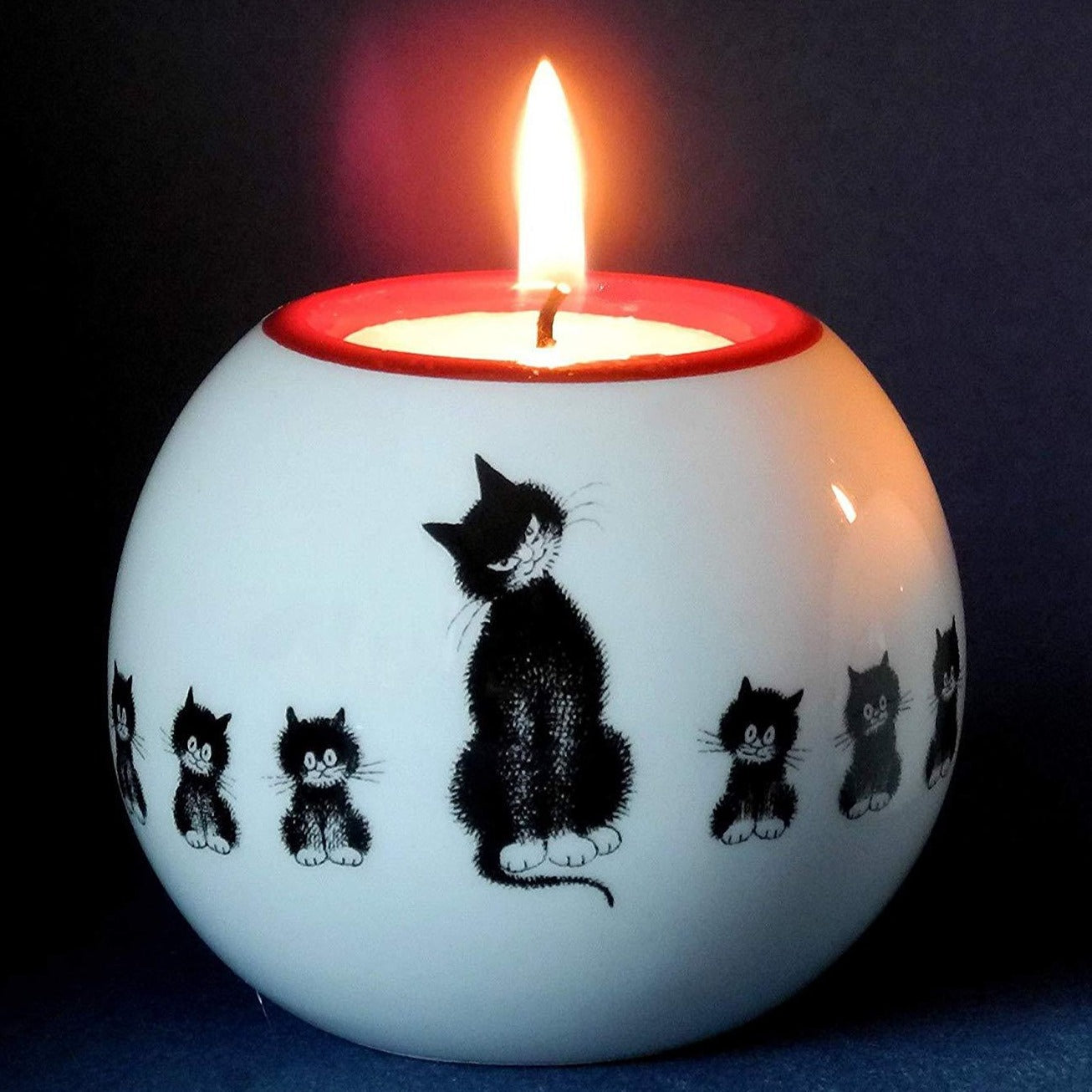 Mother and Kittens Candle Holder