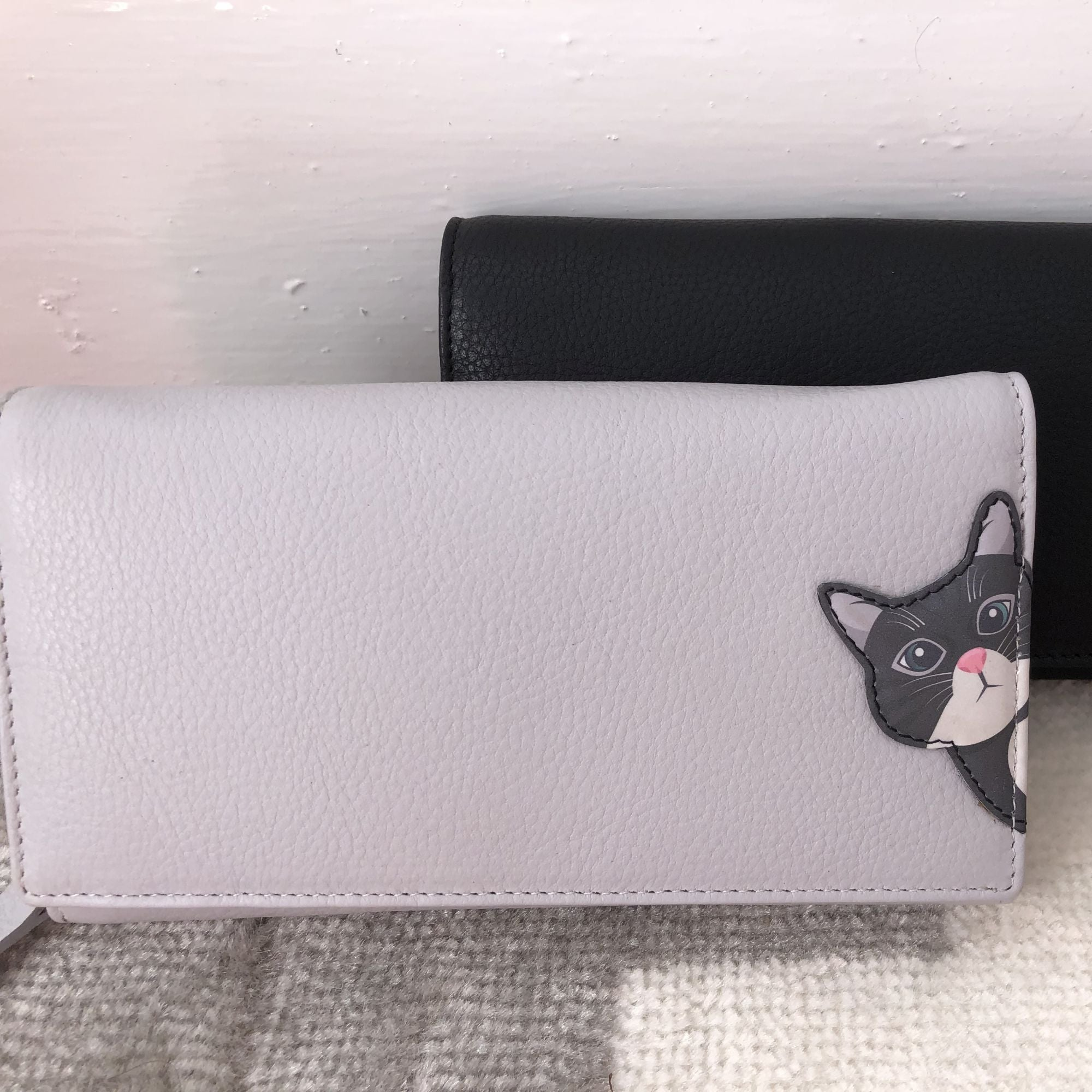 Cleo Cat Grey Purse