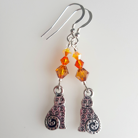 Pewter & Ginger Swarovski Earrings