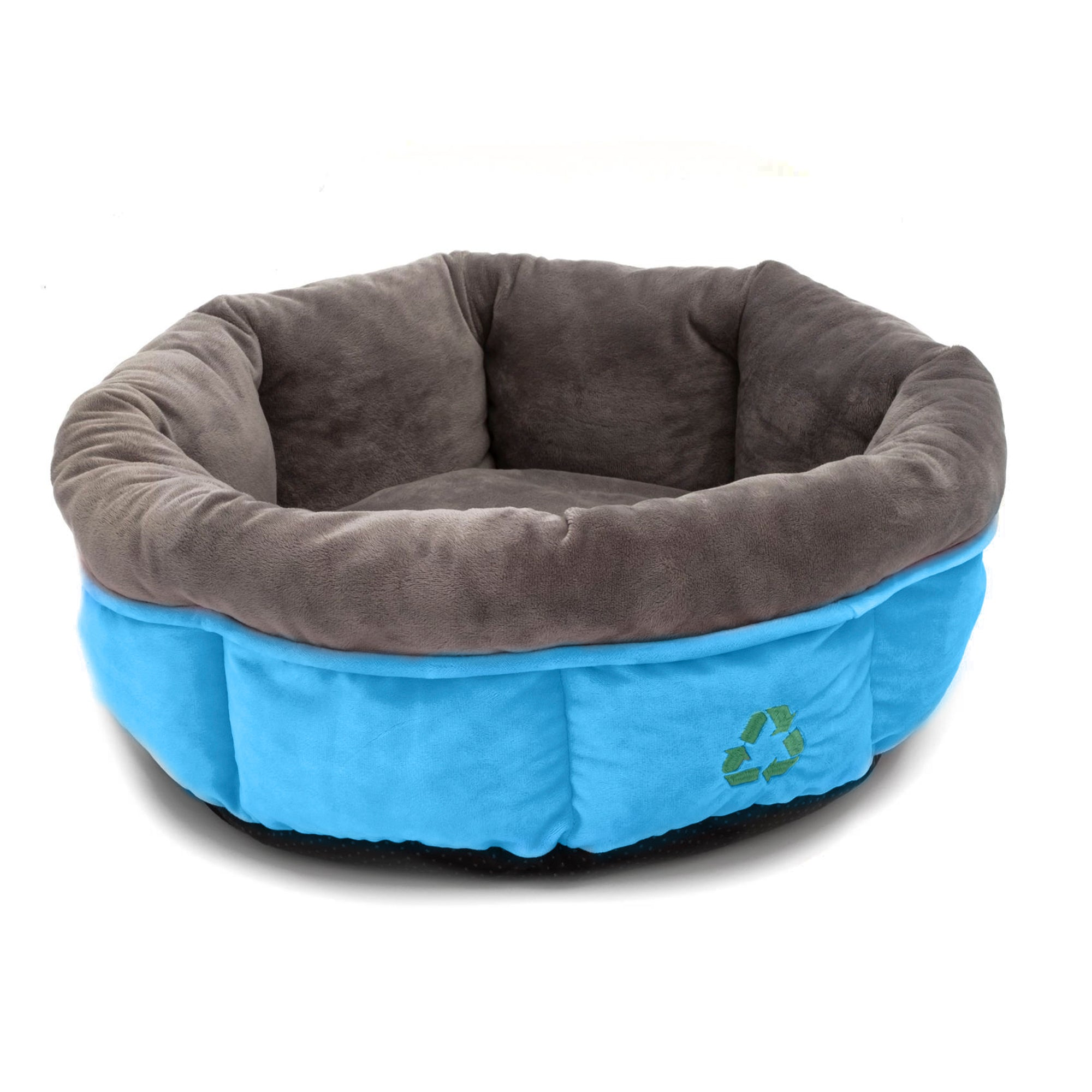 100% Recycled Blue and Grey Cat Bed