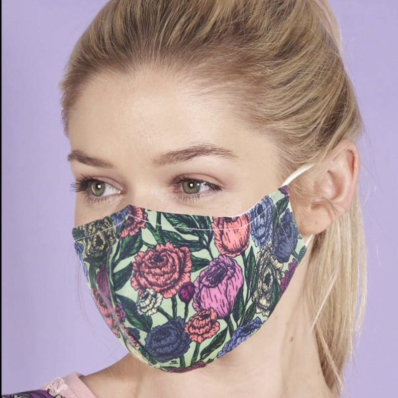 Reusable Face Cover, Peony