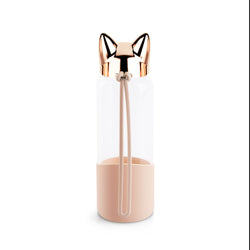 Rose Gold Cat Head Water Bottle