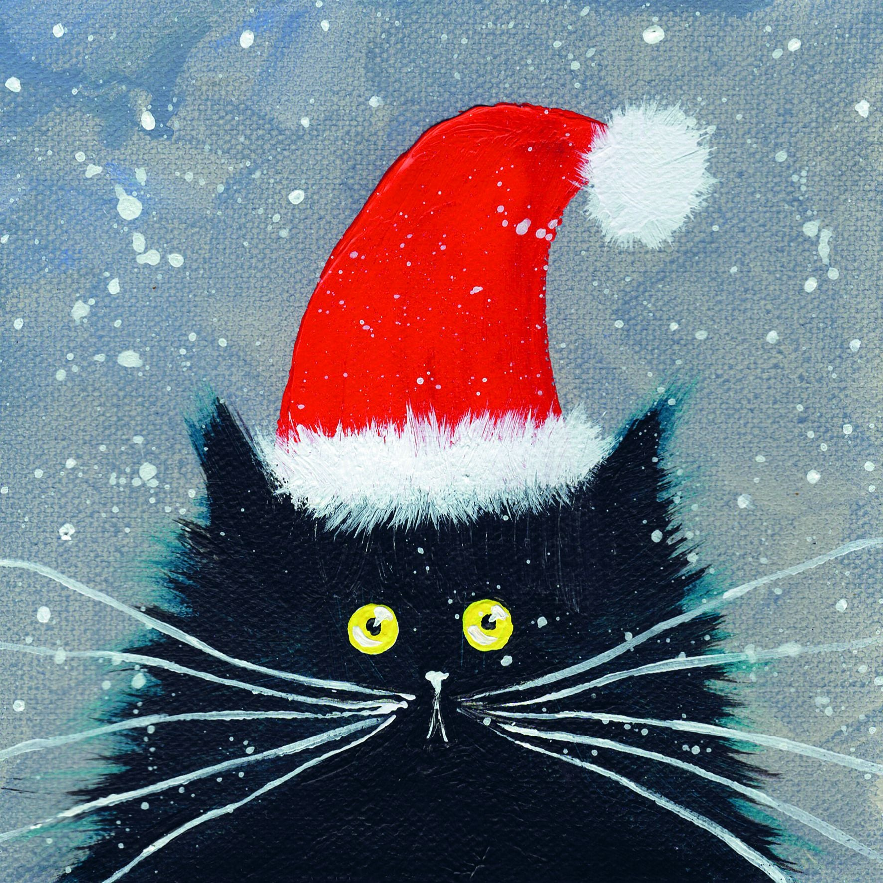 Santa Kitten Christmas Card Pack