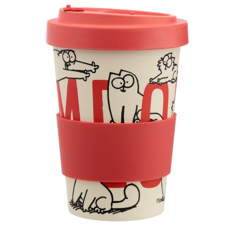 Simons Cat Bamboo Travel Mug